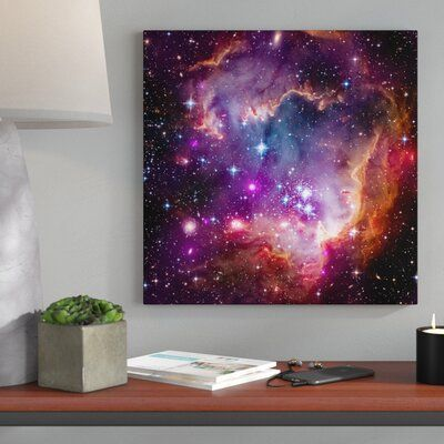 Wrought Studio 'Magellanic Cloud' Hubble Space Telescope Giclee Photographic Print on Wrapped Canvas Size: 18″ H x 18″ W