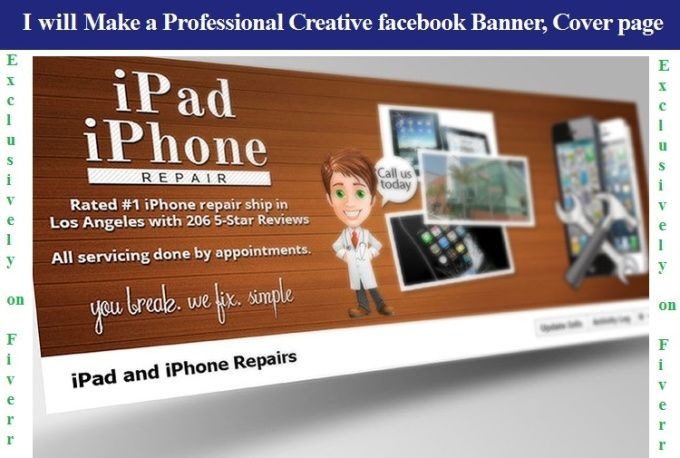 make a professional creative fb banner,cover page by enolalushka96 - professional cover page