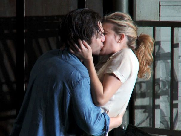 Maggie Grace Kissing Sebastian Stan Picnic 2013 Sebastian Stan