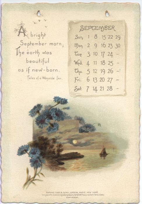 The Longfellow Calendar For 1895 Print Calendar Scrapbook Calendar