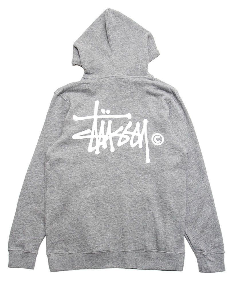 65e783cd01 Stussy Basic Logo Pullover Hoodie (Grey/White) Brand New Authentic SIZE  MEDIUM #Stussy #Hoodie