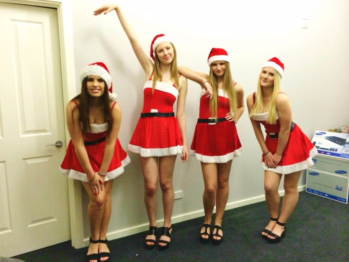 Our Version Of The Mean Girls Jingle Bell Rock Costume Last