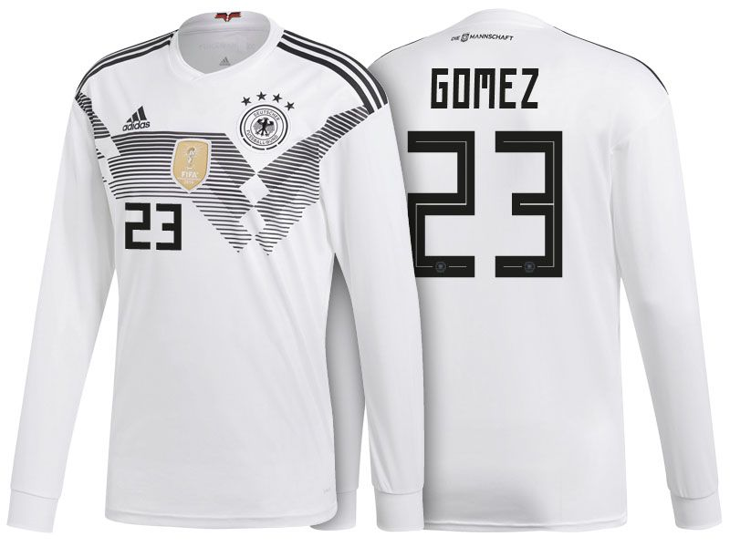 Germany Shirt 2018 World Cup LS mario gomez Home Soccer Jersey ... e5490dfa6