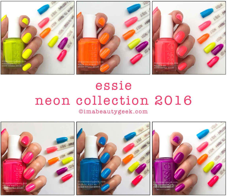 ESSIE NEONS 2016 SWATCHES & REVIEW   New polish   Pinterest   Neon ...