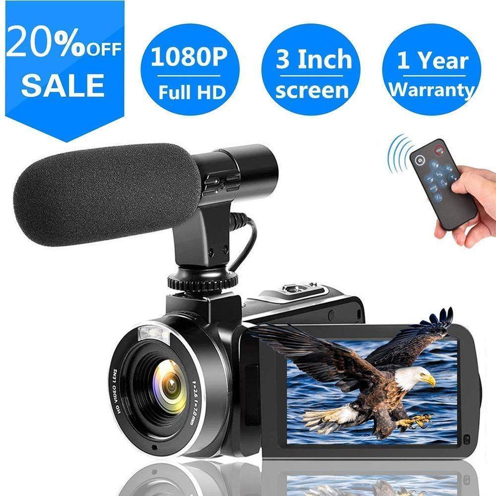 Camescope Avec Microphone Full Hd 1080p 30fps 24 0mp Appareil Photo Numerique Pour Le Support Youtube T Appareil Photo Numerique Camera Video Photos Numeriques