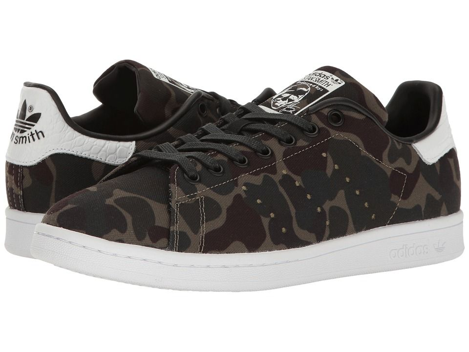 adidas Originals Stan Smith Camo Men s Tennis Shoes Core Black Footwear  White Core Black 068c7713fd19