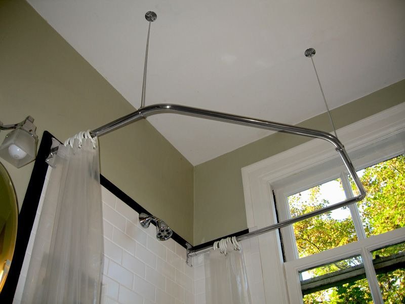Neo Angle Shower Rod Modified From Standard Two Corners By