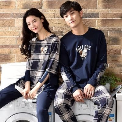 8311b10307 Couple pajamas set 100% cotton pajamas plaid pajamas spring autumn men and women  long sleeve sleepwear lover night suits
