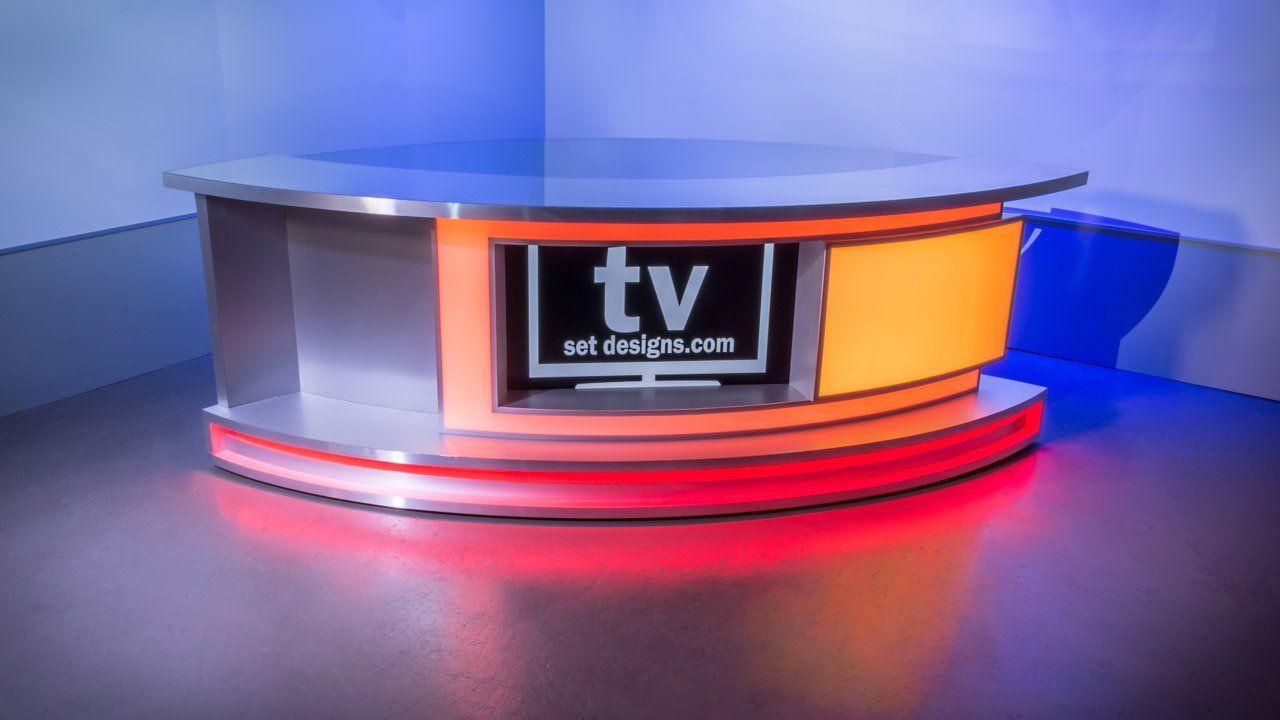 New Broadcast News Anchor Desk For Sale Tv Set Designs Tv Set Design Tv Sets Tv Design