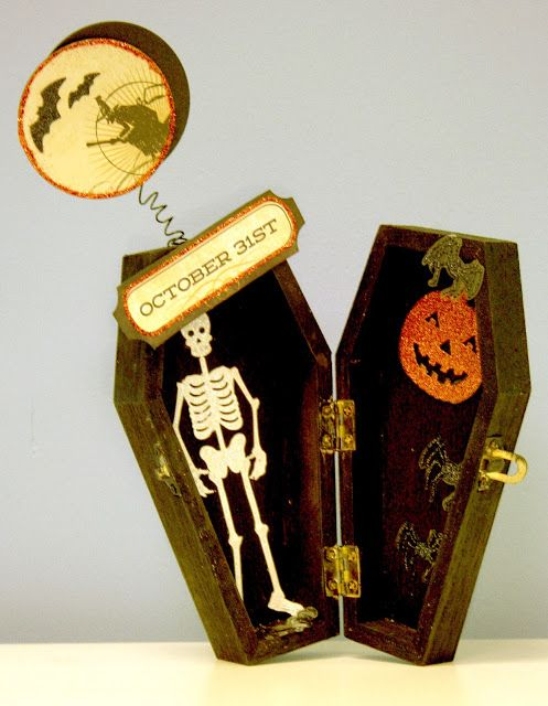 Oh My Crafts Blog: Wooden Coffin Box Halloween Decor - inspiration