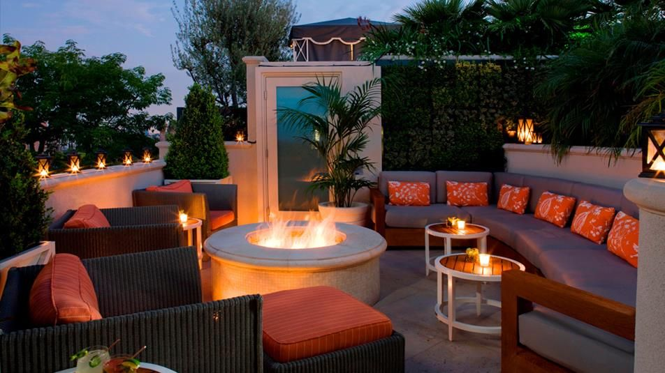 Roof Top Patio Beverly Hills The Garden Restaurant