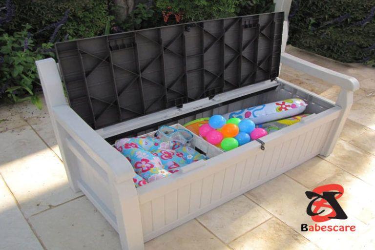 10 Clever Outdoor Toy Storage Ideas For Kids Playground Outdoor Toy Storage Outdoor Storage Bench Outdoor Storage
