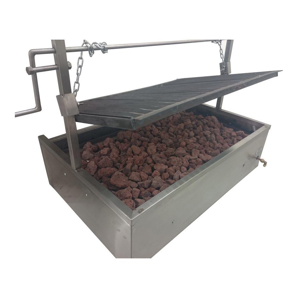 Asador A Gas Argentino Elevable Parrilla Carne Asado Corte - $ 13,000.00 en MercadoLibre