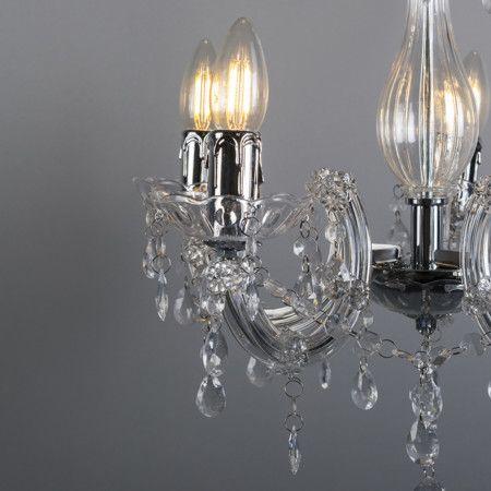 lampara de estilo elegante lamentable l mpara colgante marie theresa 5 transparente cl sico