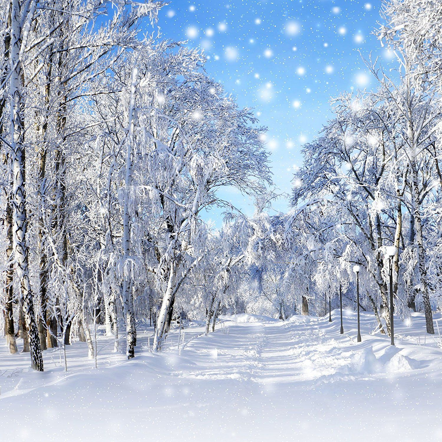 DaShan 14x10ft Christmas Winter Ice Frozen Snowflake Backdrop for Winter Party Decor Winter Frozen Bokeh Halo Photography Background Merry Christmas New Year Kids Children Photo Studio Props