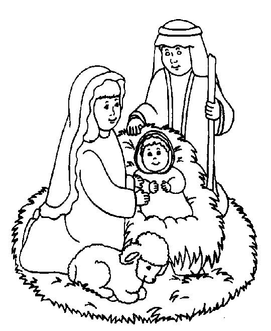 The Holy Family Coloring Page Nativity Coloring Pages Jesus Coloring Pages Bible Coloring Pages