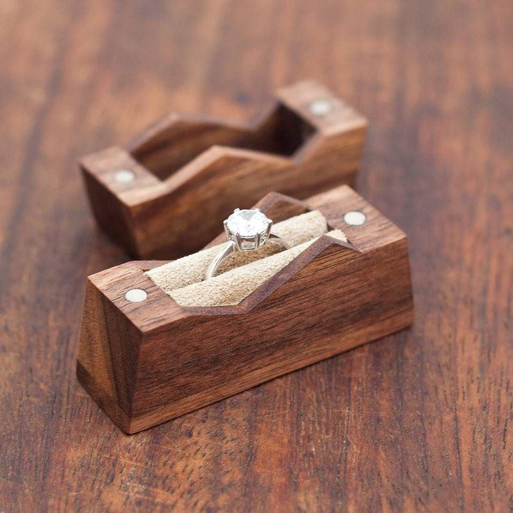 Mountain ring box. Cute. X ad Wood working gifts