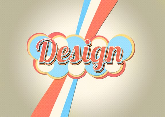 Line Art Effect Photoshop Tutorial : Create a colorful lively retro text effect in photoshop