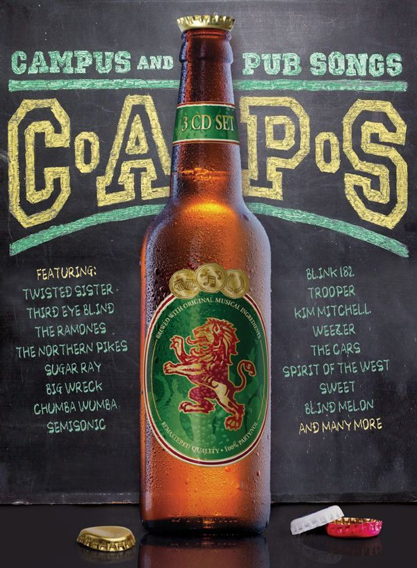 Various - C.A.P.S.: Campus and Pub Songs, Black