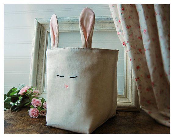 bunny storage bin- etsy