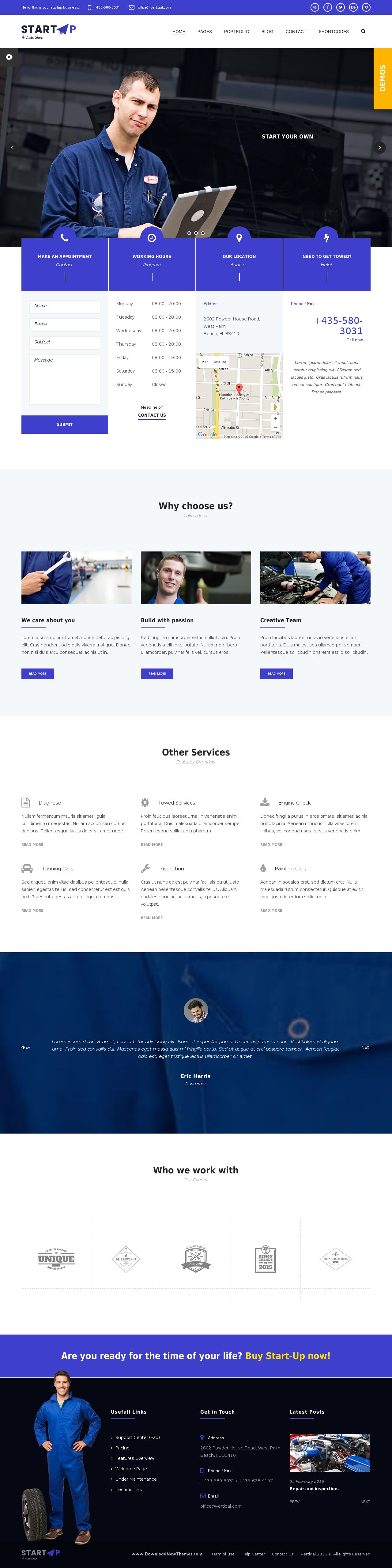 Start basic business html5 css3 template template business startup basic business html5 css3 template startup has all the features an auto shop or a mechanic needs from online appointments to schedule and maxwellsz
