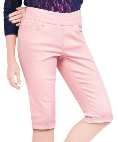 Loving this Dawn Pink Bermuda Shorts - Plus Too on #zulily! #zulilyfinds