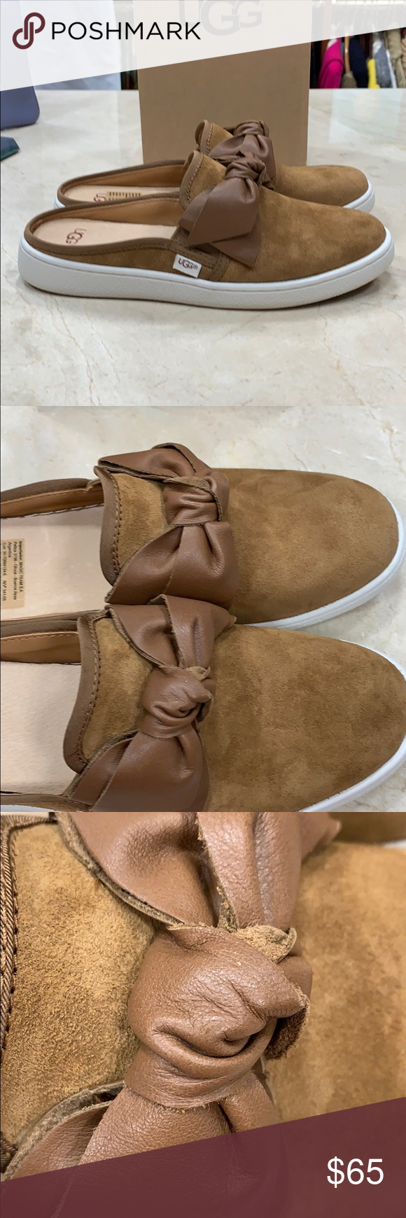 UGG W IDA SLIDE WITH BOW | Uggs, Suede