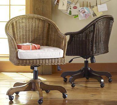 Wingate Rattan Swivel Desk Chair Mit Bildern
