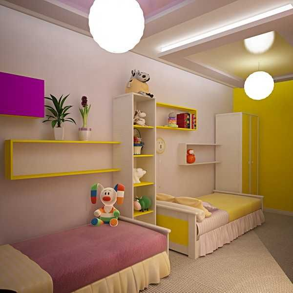 Kids room decorating ideas for young boy and girl sharing for Bedroom ideas for girls sharing a room