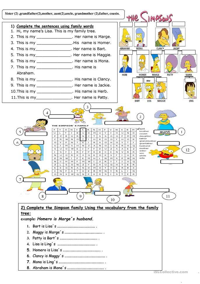 family | Education | Pinterest | English, English exercises and ...