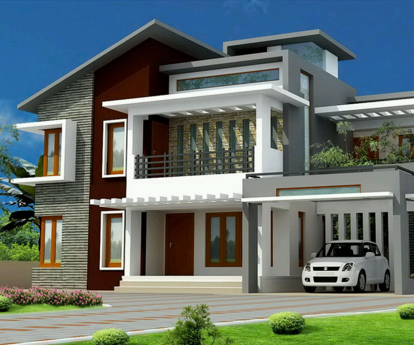 Latest Exterior House Designs Delectable Big House With Modern Design  Modern Home With Latest Exterior . 2017