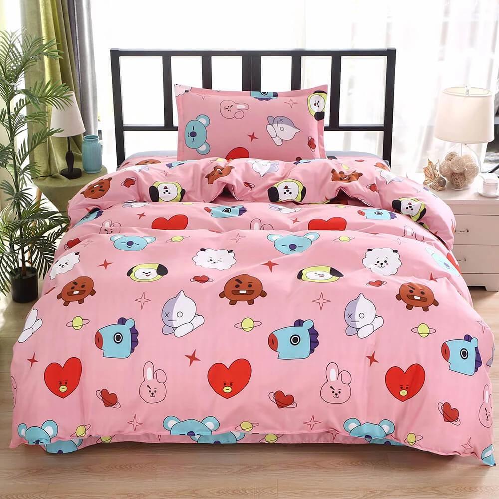 BTS Design Bed Cover + 2 Pillowcasesv