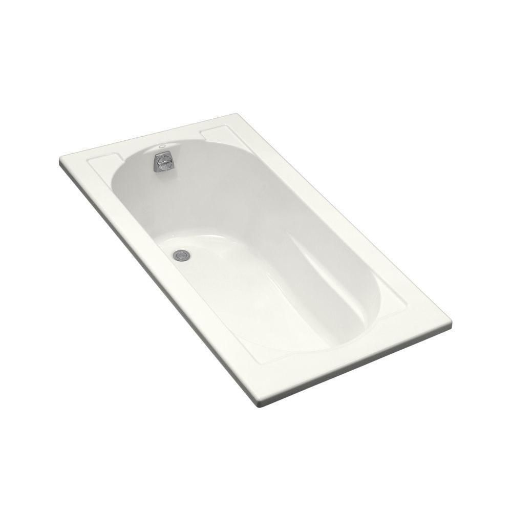 Kohler Devonshire 5 Foot Reversible Drain Drop-in Acrylic Bathtub (Sandbar), Beige Off-White
