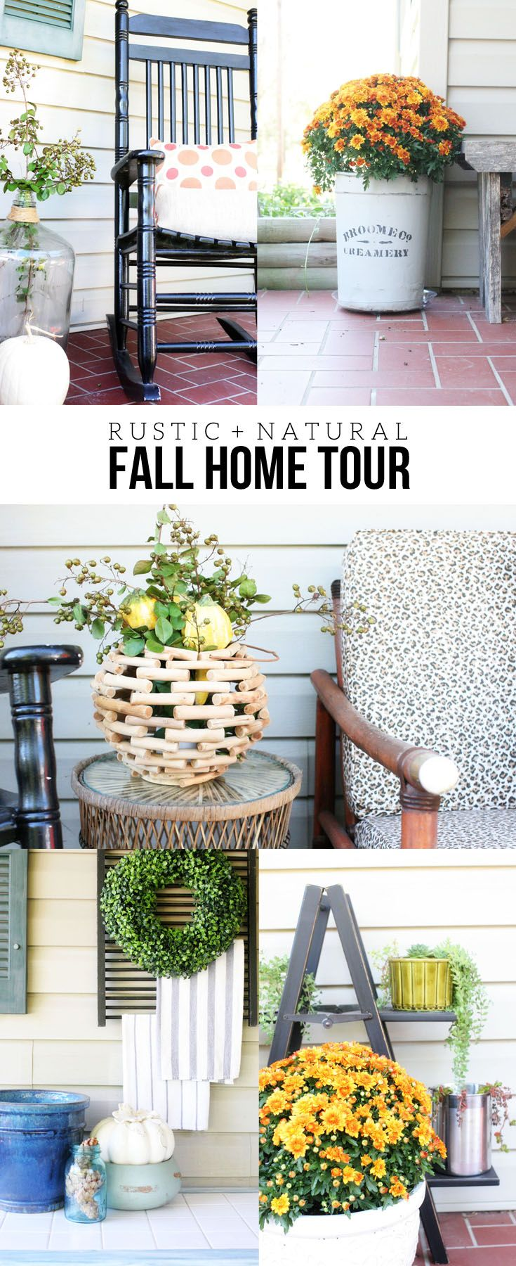 Rustic + Natural Fall Home Tour | Cozy, Craft and Decoration