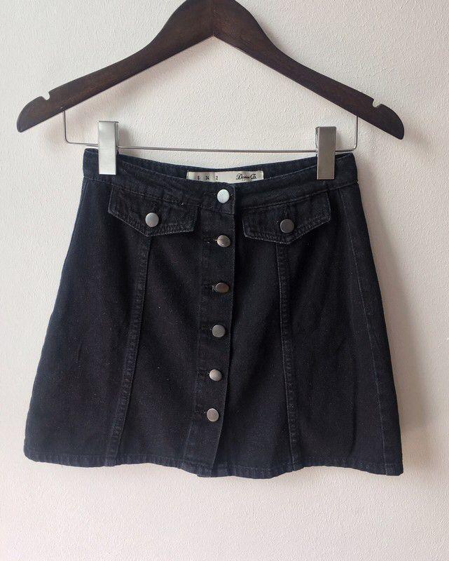 f57e901001666 Pin by Karolina Łubian on Sales! | Denim skirt, Skirts, Black denim ...