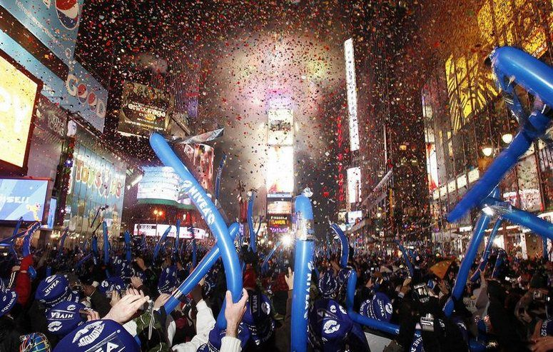 New Year's Eve in Times Square.