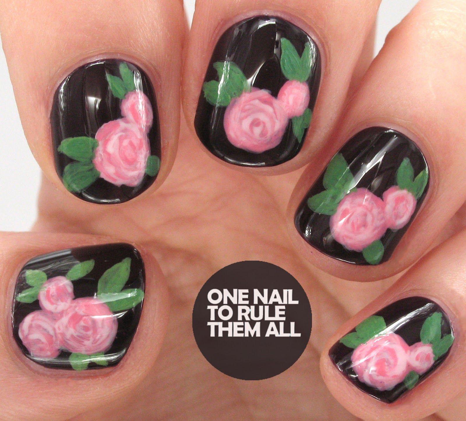 One Nail To Rule Them All: Dark Romance Roses #nail #nails #nailart ...