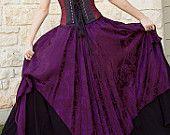 Purple Pixie Skirt Renaissance Costume