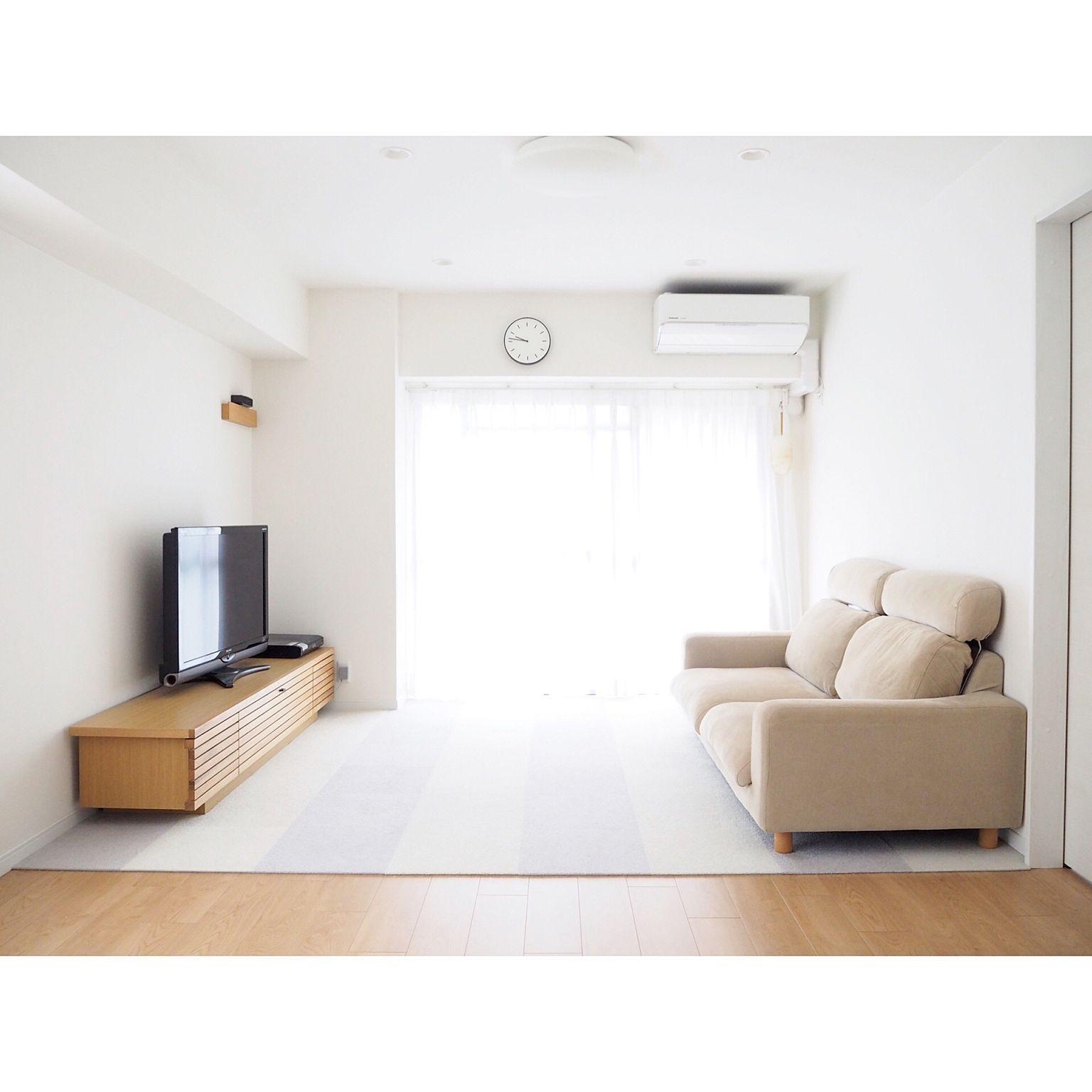 部屋全体 テレビボード テレビ台 ソファ リビングダイニング などのインテリア実例 2017 09 09 15 25 37 Roomclip ルームクリップ Home Decor Room Floor Chair