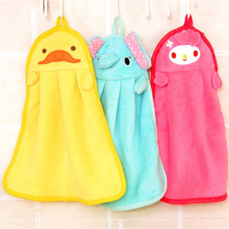 Animal Bonito Toalha Linda Toalha De Microfibra Criancas Dos Miudos Dos Desenhos Animados De Mao Absorvente Dry Pa Cartoon Kids Soft Towels Kitchen Hand Towels