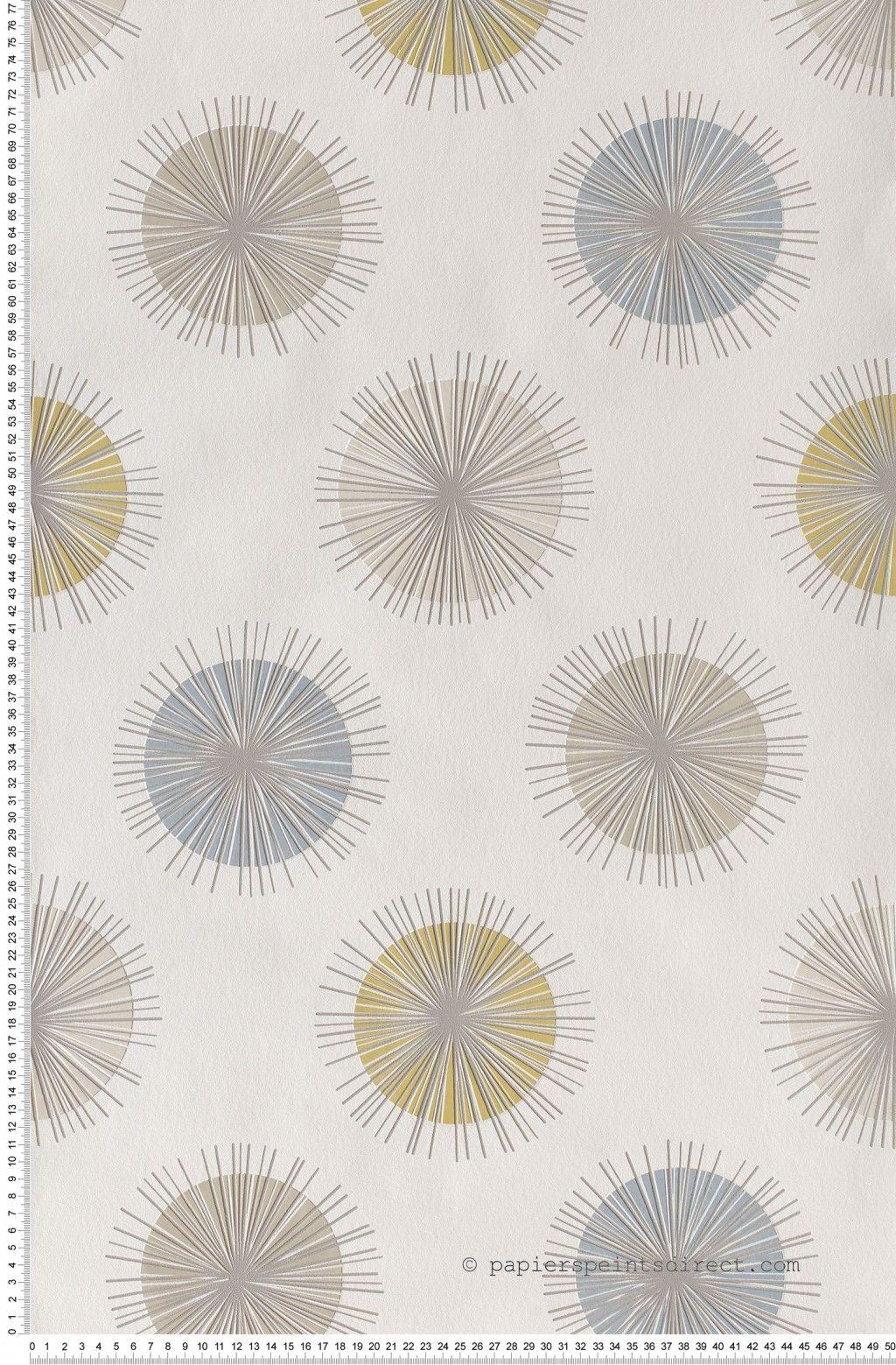 papier peint soleil graphique moutard papier peint skandinavia de lutece papier peint. Black Bedroom Furniture Sets. Home Design Ideas