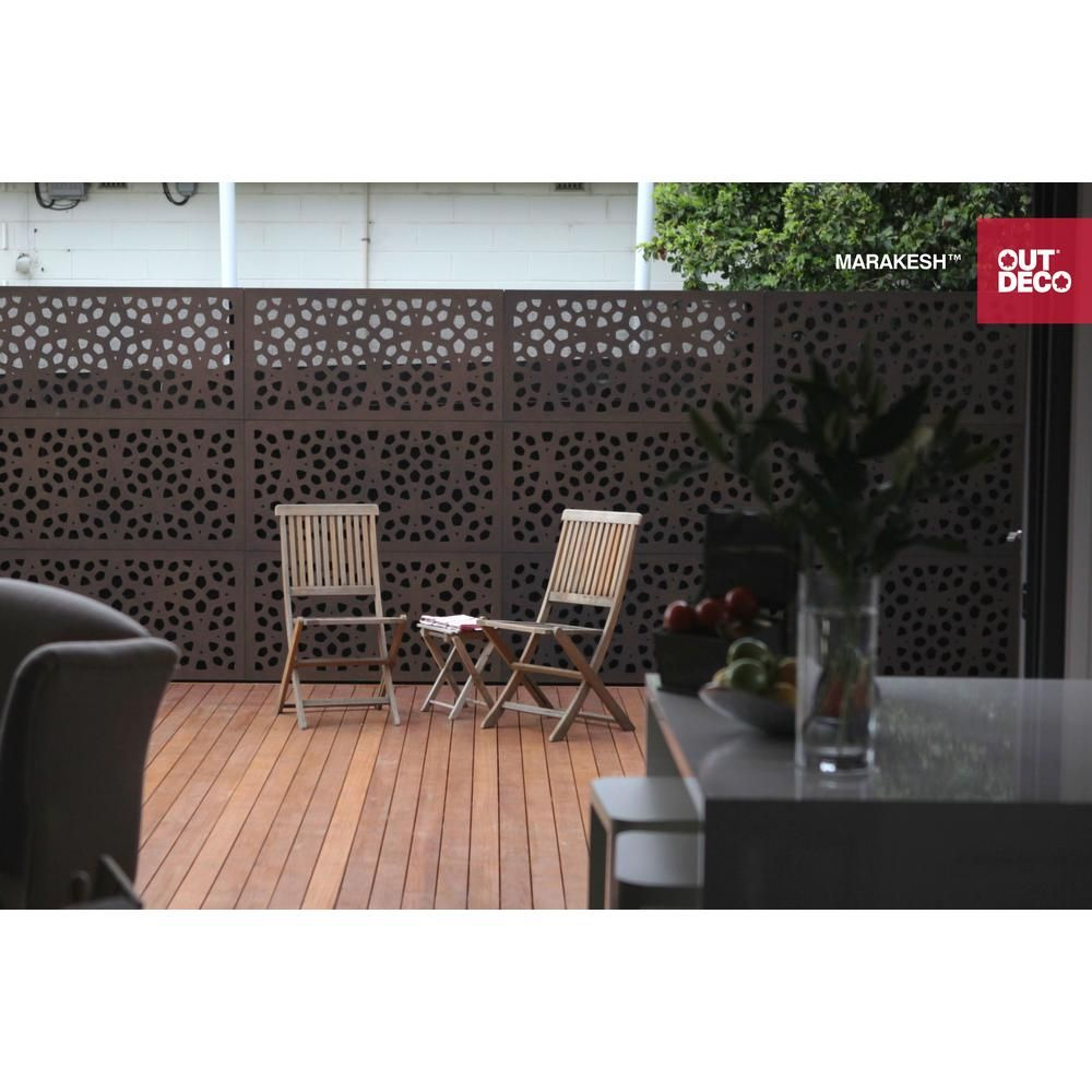 Accent Wall Using Privacy Fence Boards: OUTDECO 5/16 In. X 24 In. X 48 In. Marakesh Modular