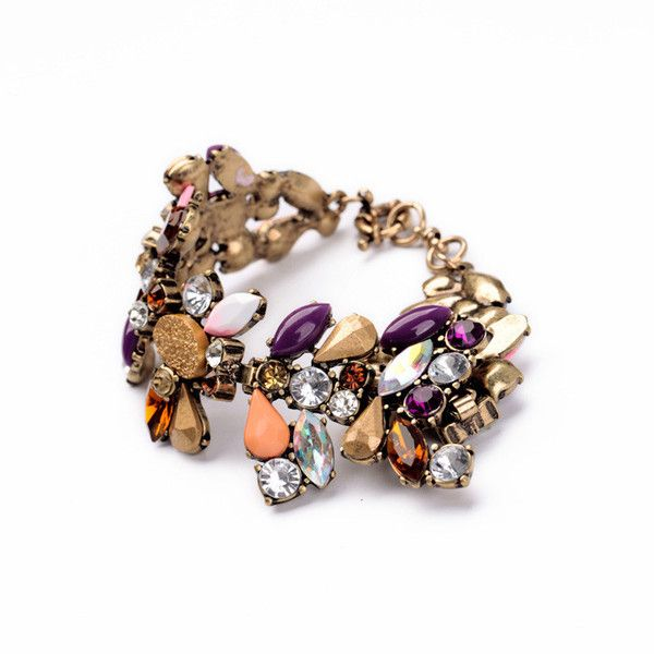 Stone Mix Bracelet (€11) ❤ liked on Polyvore featuring jewelry, bracelets, stone jewellery, stone jewelry and stone bangles