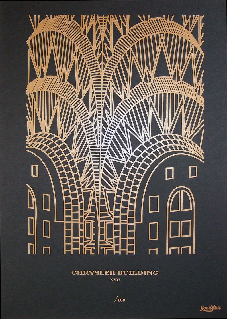 Chrysler Building print by Yoni Alter available at PrintforGood. Buy this and funds will be sent to ShelterBox. Their mission is to provide shelter, warmth and dignity to families who have been affected by disasters worldwide.