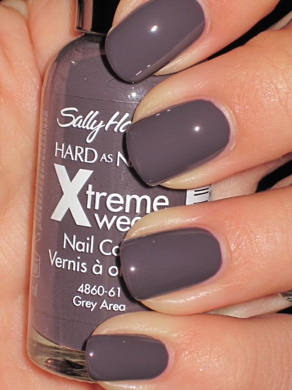 Sally Hansen- Grey Area...I REALLY wanted Essie\'s Smoking Hot...but ...