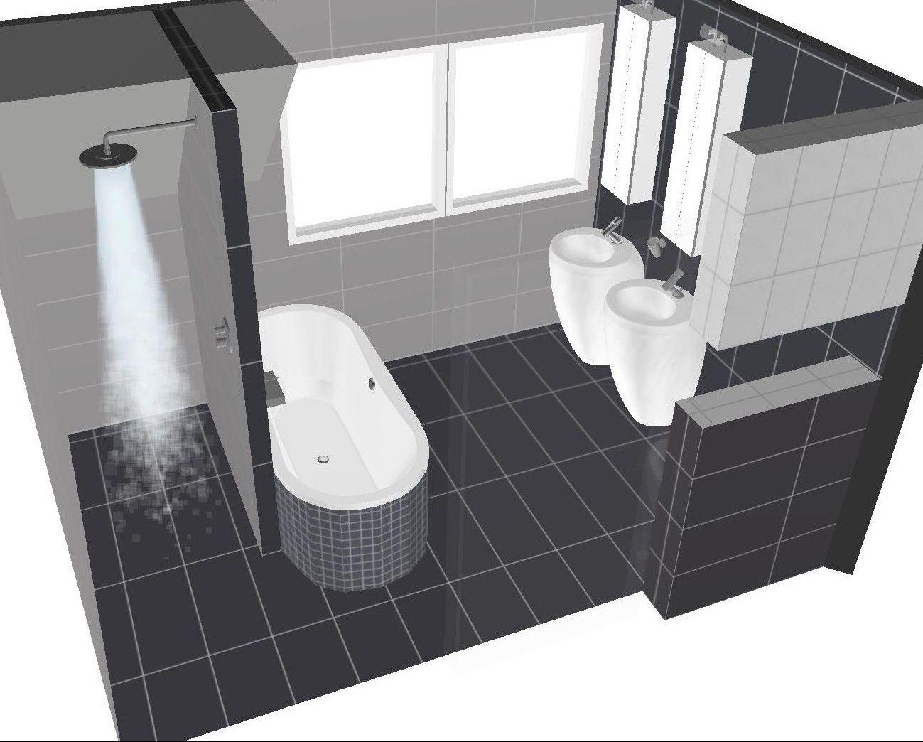 Indeling badkamer | Badkamer - Bath room | Pinterest | kleine Bäder ...
