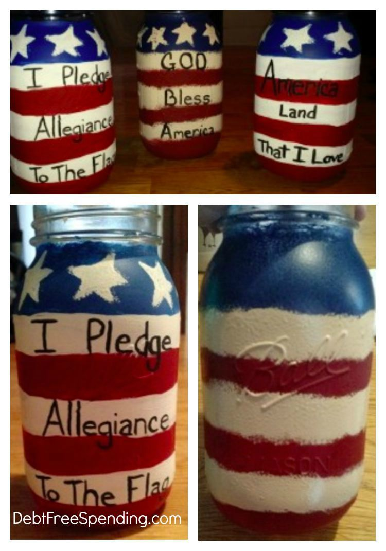 Patriotic american mason jar craft mason jar crafts jar and craft