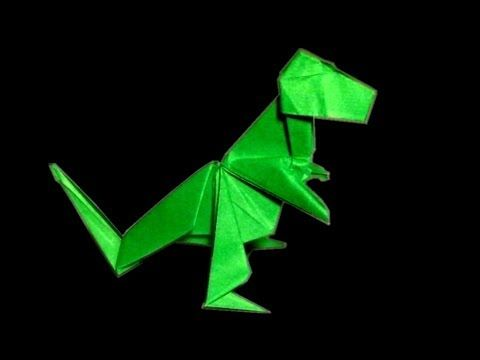 How to Make an Easy Origami Tyrannosaurus / T-Rex | 360x480