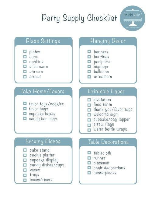 Simple Party Planning Checklist  Sweet Sixteen