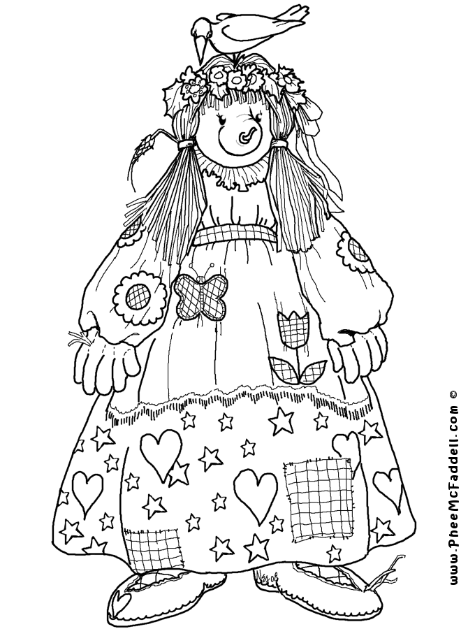 Matilda Scarecrow www.pheemcfaddell.com | !My coloring pages ...